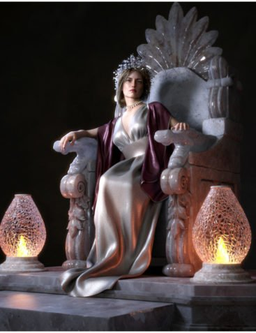 Stone Throne for Daz Studio