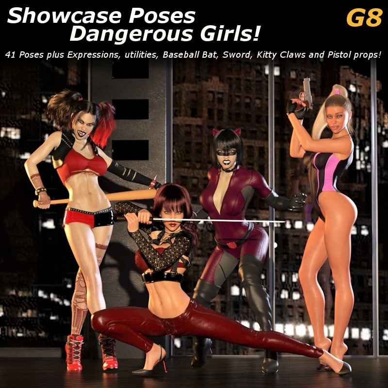 Showcase Poses: Dangerous Girls Poses And Props G8