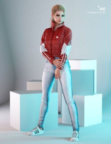 AJC Cropped Style Outfit For Genesis 8 Female(s)