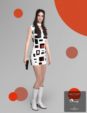 dForce Emma Dress for Josephene 8 and Genesis 8 Female(s)