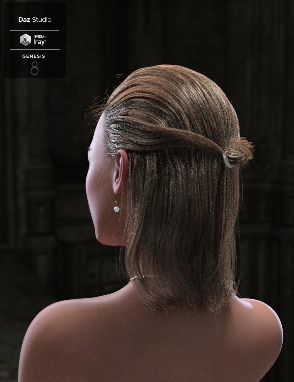 Paulyn Tied Bun Hair For Genesis 8 3d Stuff Community