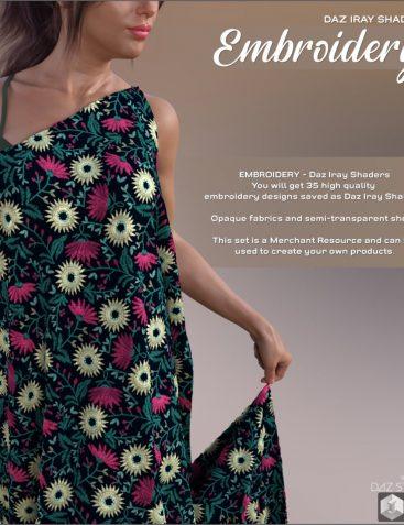 Daz Iray - Embroidery