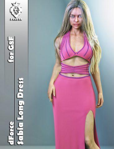 JMR dForce Sabia Long Dress for G8F