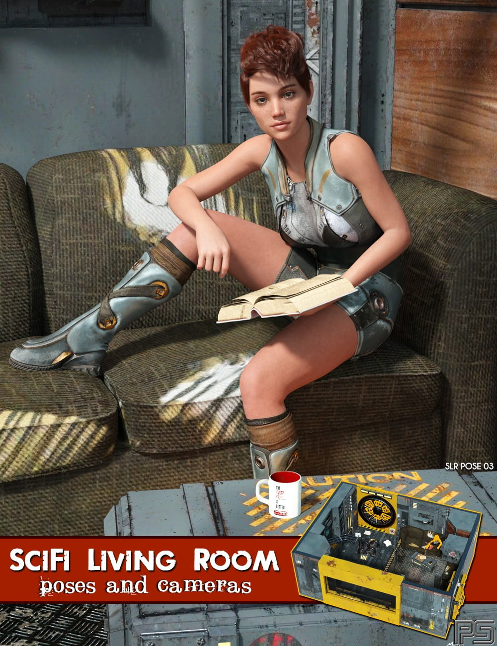 SciFi Living Room Poses and Cameras for Genesis 8