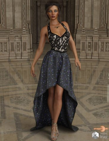 VERSUS - dForce Exalted Dress for Genesis 8 Females