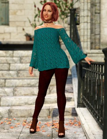 dForce Autumn Bloom Outfit for Genesis 8 Female(s)