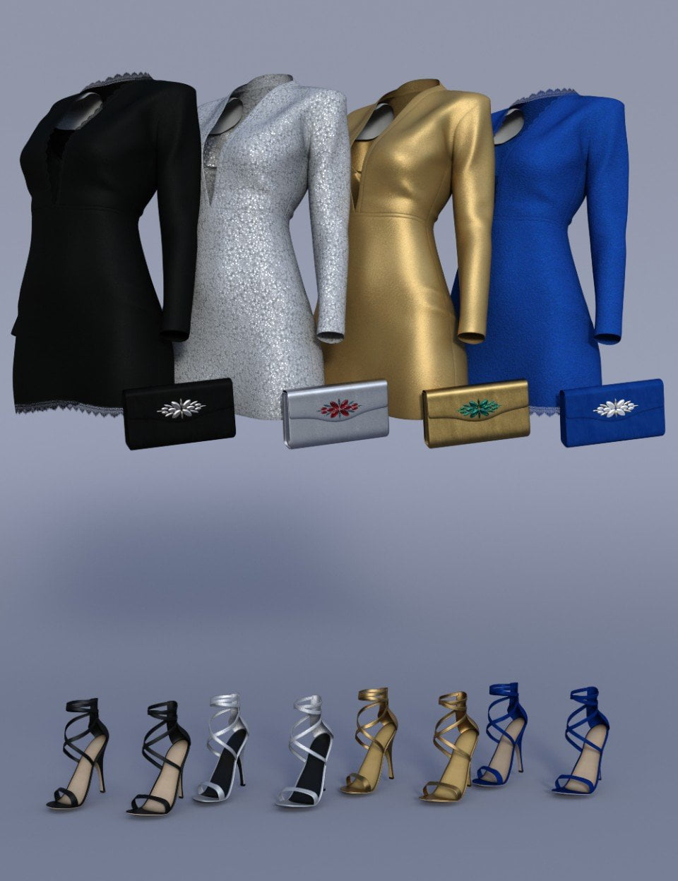 dForce Chic Club Outfit Textures