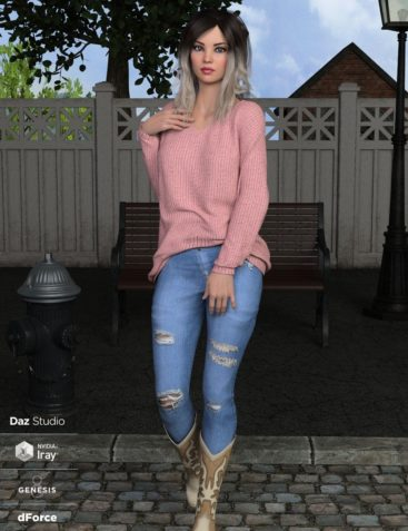 dForce Nora Outfit for Genesis 8 Female(s)