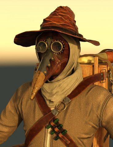 dForce Plague Doctor for Genesis 8 Male