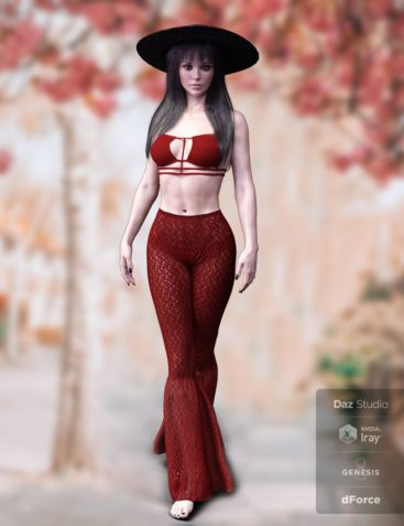 dForce X-Fashion Boho Chic Outfit 05 for Genesis 8 Female(s)