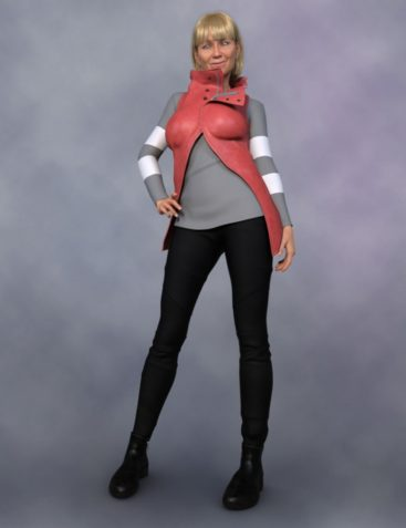 High Collar Outfit for Genesis 8 Female(s)