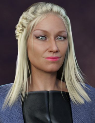Long French Braid Hairstyle for Aubrey 8 and Genesis 8 Female(s)