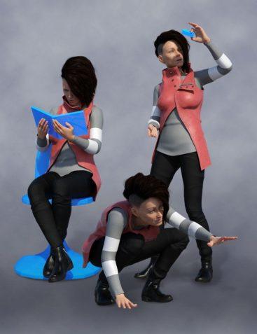 Scientific Pose Pack for Aubrey 8 and Genesis 8 Female(s)