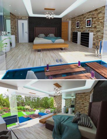 Floating Tub Bedroom