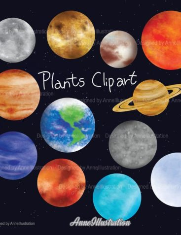 Planets Clipart,Outer Space Clipart,Solar System Clipart