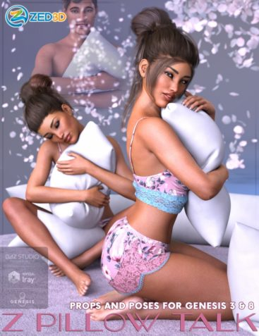 Z Pillow Talk Props and Poses for Genesis 3 and 8