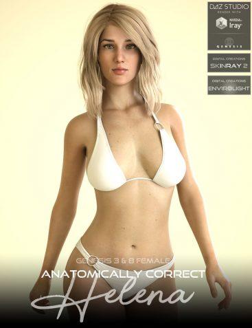 Anatomically Correct: Helena for Genesis 3 and Genesis 8 Female
