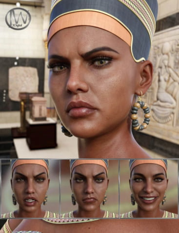 Egyptian Queen - Expressions for Genesis 8 Female and Twosret 8
