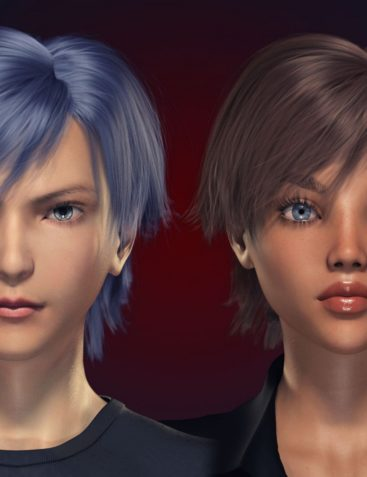 FE Short Hair Vol 1 for Genesis 8 Male and Female