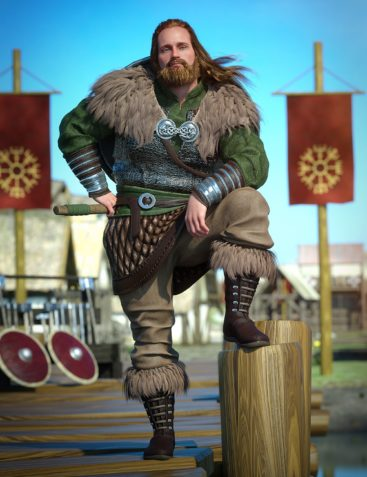 Viking Raider Outfit for Genesis 8 Male(s)